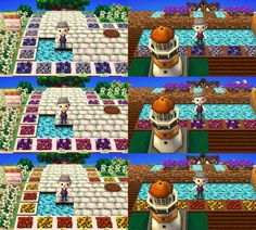 cocoa village forest diary (Animal Crossing: New Leaf) ◆ My design (the ground) Flowerbed - petals four flower ~ http://cocoamura1diary.blog.fc2.com/blog-entry-104.html