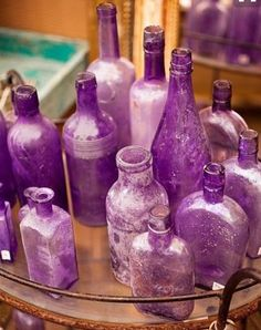 Purple bottles these are super cute