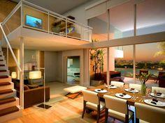 Construindo Minha Casa Clean: Ambientes com Pé-Direito Duplo e Mezaninos Modernos!!!
