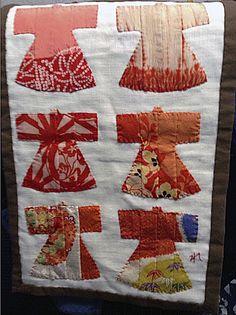 Reiko Inaba Kimono: Appliqué of Antique Kimono Silk