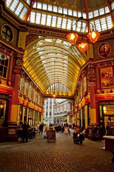 "Leadenhall Market London England UK photograph colour picture photo 5""x7"" print #art"