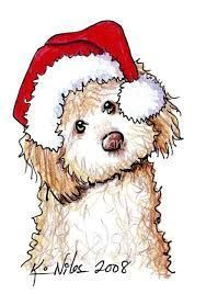 Image result for christmas dog drawings