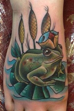 Frog tattoo idea