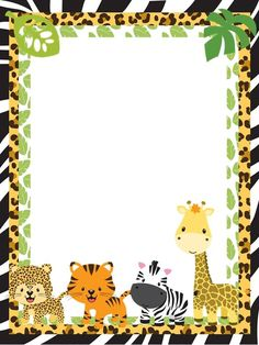 jungle animal page border | Jungle Safari Baby Shower Border Pictures to Pin on Pinterest ...