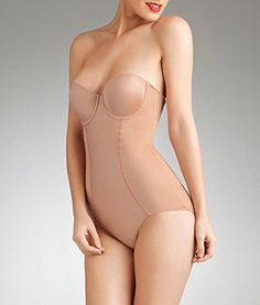 - Supportive built-in bra shapewear - Center seam is ruched at seat creates butt pockets and prevents uni-butt - Cotton gusset hook and eye for comfort and convenience - Firm slimming level - Cup is e Spanx Bodysuit, Spanx Shapewear, Navy Ball, Under My Skin, Bare Necessities, Bridal Lingerie, Fashion Beauty, One Piece, Style Inspiration