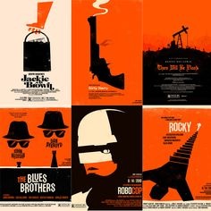 Movie posters by Saul Bass Poster Design Layout, Creative Poster Design, Saul Bass, Olly Moss, The Blues Brothers, Social Art, Alternative Movie Posters, Minimalist Poster, Film Posters