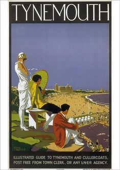 Poster produced for the London and North Eastern Railway (LNER) to promote rail services to the coastal town of Tynemouth cm) Fine Art Print Framed, Poster, Canvas Prints, Puzzles, Photo Gifts and Wall Art Retro Poster, A4 Poster, Poster Wall, National Railway Museum, Railway Posters, Posters Uk, Vintage Outfits, Vintage Travel Posters, Vintage Ski