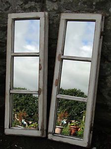 Rustic window mirror 612 long window mirror narrow for Long window mirror