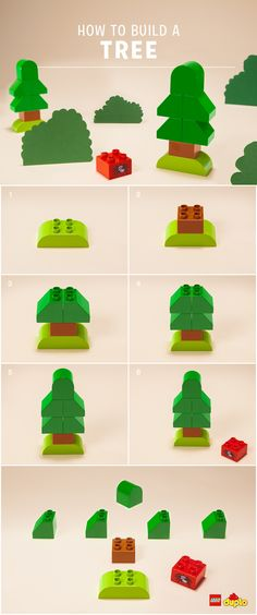 Trees can live for thousands of years and grow hundreds of metres tall! Why not try building some with your toddler? Find our building instructions here: http://www.lego.com/en-us/family/articles/diy-tree-3cabb2780ff84dfeaf7a32dc11b384be