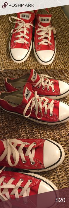 Red Chuck Converse Good condition. Can be cleaned. Men's size 8 which is equivalent to a women's size 10 Converse Shoes Sneakers