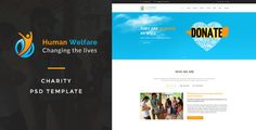 Human Welfare : Charity PSD Template by ifathemes Human Welfare : Charity PSD Template suitable for all types of Charity Organization. That Includes totally 24 Pages.Pages 01 Human