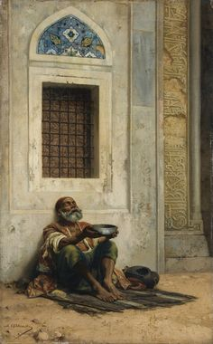 Mendicant at the Mosque Door, Stanislaus von Chlebowski