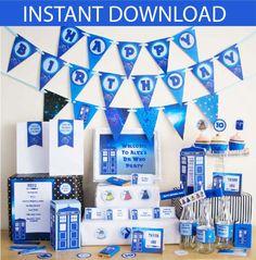 Dr Who Birthday Party DIY Printable Kit  par CreativeLittleStars                                                                                                                                                                                 Plus