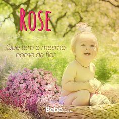 Quem aí tem uma #Rose em casa ou na barriga? No nosso site você encontra mais curiosidades desse e de muuuitos outros nomes lindos! #NomesSignificados #SiteBebê #NomesdeBebês #escolhadonome
