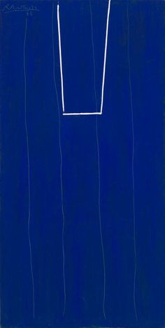 Robert Motherwell, Open in Ultramarine with White, 1973, Acrylic on canvas ❖ LuluStylesLife ❖