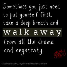 It's hard to walk away but sometimes necessary xx #mentalhealth #breakthestigma