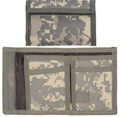 ACU Digital Camouflage Military Nylon Commando Tri-Fold Wallet   10640   $3.99