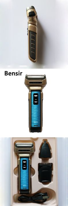bensir 3 in 1 Men's  Electric Shaver Beard Trimmer Rechargeable Razor for Men Shaving Nose hair Face Care
