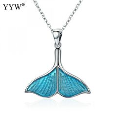 Do you have what it takes to Original Price US $21.00 Discount 3 Unique gift blue enamel Mermaid tail Choker Necklace Women 925 Sterling Silver necklaces pendants Jewelry the new facebook? #unique_necklaces