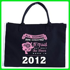 All Women Are Created Equal Finest Born In 2012 - Tote Bag - Top handle bags (*Amazon Partner-Link)