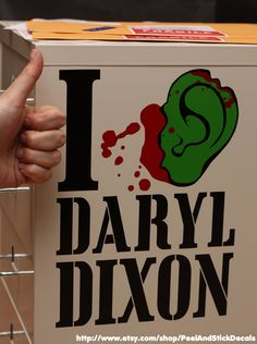I Love Daryl Dixon Decal by PeelAndStickDecals on Etsy