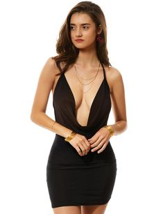 Mini Dresses For Women, Mini Club Dresses, Sexy Dresses, Clothes For Women, Halter Dresses, Hot Clothes, Sexy Outfits, Party Dresses, Evening Dresses