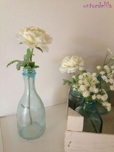 un toc de lila: DIY : Potets de vidre blau // DIY : Tarritos de cristal azul