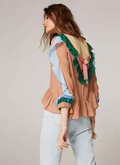 Frilly blouse - View all - New in - Uterqüe Spain