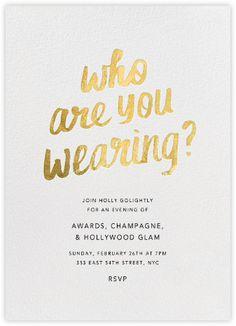 Fun Oscars party digital invitation at Paperless Post.