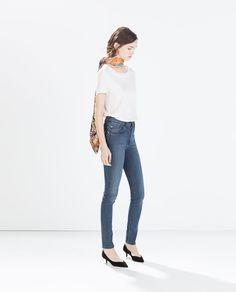 HIGH WAIST JEANS from Zara Zara United Kingdom, Zara United States, Zara Women, Cut And Style, High Waist Jeans, Skinny Jeans, Denim, Pants, Collection