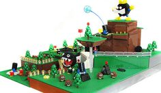 The 1st level of Mario 64 in Lego form - amazing! #1 for Retro: http://www.funstock.co.uk #retrogaming