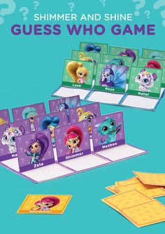 Your Shimmer and Shine fan is going to adore this printable genie Guess Who game.