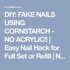 Diy acrylic nails no acrylic only cornstarch fake nails on a diy fake nails using cornstarch no acrylic easy nail hack for solutioingenieria Images