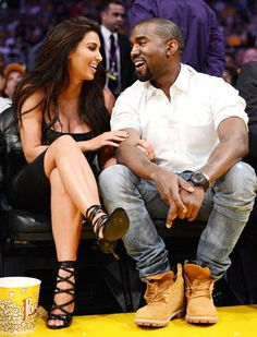 Kim Kardashian and Kanye West... Should I be surprised that one person I want to go away is dating another person whom I want to go away? Sigh.