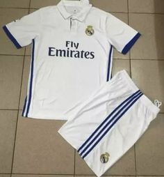 uniforme jersey real madrid  niños ronaldo 2017 con detalle