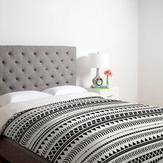 Allyson Johnson Black And White #Aztec Pattern Duvet Cover