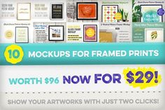 [-70%] 10 Mockups for Framed Prints by Frisk Shop on @creativemarket