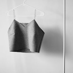 Style - Minimal + Classic Felted midriff baring camisole, could be cute over a mannish or chiffon shirt.