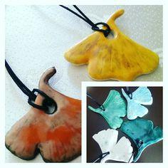 Ginkgo leaf (ceramic pendants) /Özlem Menekay