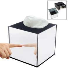 [USD19.61] [EUR18.69] [GBP14.78] Mirror Box Fashion Safety Hidden Tissue Box for GoPro Sports Cameras DV Home Security