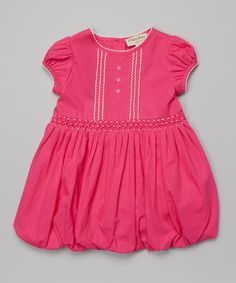 Love this Pink Pleated Cap-Sleeve Dress - Infant & Toddler by P'tite Môm on #zulily! #zulilyfinds