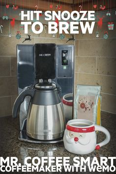 Impress your relatives with no effort at all. Use the Mr. Coffee® Smart Coffeemaker with WEMO® and brew fresh coffee for your guests without ever leaving your bed.
