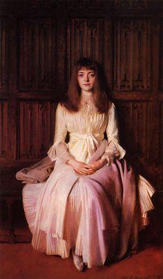 """John Singer Sargent, """"Miss Elsie Palmer,"""" 1889-90. Oil on Canvas."""