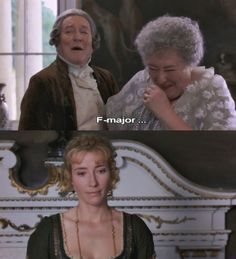 """Sir John Middleton (Robert Hardy): And I believe I know what key you will sing in. """"F"""" major. - Sense and Sensibility (1995) #janeausten #anglee"""