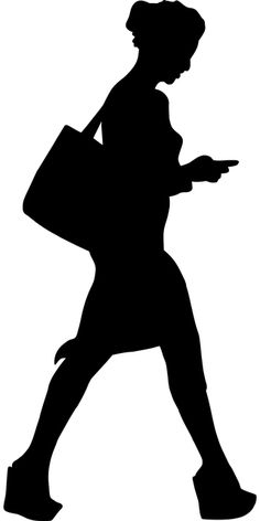 Free Image on Pixabay - Woman, Phone, Walking, Text, Bag Person Silhouette, Silhouette Clip Art, Silhouette Design, People Illustration, Graphic Illustration, Poppy Drawing, Free Collage, Architecture Collage, Free Photoshop