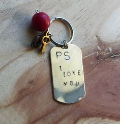 A personal favorite from my Etsy shop https://www.etsy.com/listing/255694611/hand-stamped-love-keychain-i-love-you