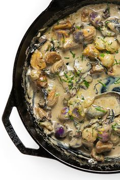 Nothing like a chestnut gravy with roasted onions, mushrooms, and cognac to make you feel all happy inside.