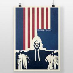 House of Cards affiche - impression de la démocratie, Frank Underwood, Kevin Spacey, encadré affiche