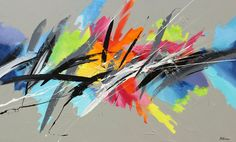 artist_Pierre_Bellamere_Heart_Sounds_pintura_abstracta_colorismo                                                                                                                                                                                 Más Abstract Watercolor, Abstract Print, Contemporary Wall Art, Modern Art, Pierre Bellemare, Bright Art, Landscape Art, Bunt, Canvas Wall Art