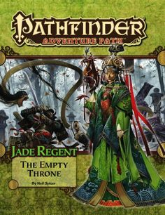 Pathfinder Adventure Path #54: The Empty Throne (Jade Regent 6 of 6) (PFRPG) | Book cover and interior art for Pathfinder Roleplaying Game - PFRPG, 3rd Edition, 3E, 3.x, 3.0, 3.5, 3.75, Role Playing Game, RPG, Open Game License, OGL, Paizo Inc. | Create your own roleplaying game books w/ RPG Bard: www.rpgbard.com | Not Trusty Sword art: click artwork for source